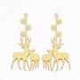 Golden Deer Brass Big Pendants(KK-S353-019)