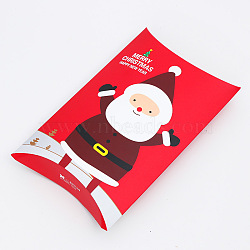 Merry Christmas Candy Gift Boxes, Packaging Boxes, Gift Bag, Father Christmas/Santa Claus, Red, 29.2x16.2cm(X-CON-E020-B-01)