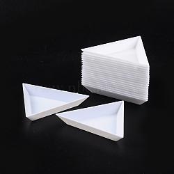 Les plateaux d'affichage en matière plastique, blanc, taille: 7.3 cm de large, 7.3 cm de long, 1 cm de haut(X-C015Y)