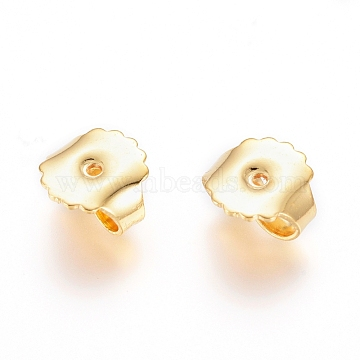 304 Stainless Steel Ear Nuts, Golden, 8.5x9x4.5mm, Hole: 1mm(STAS-I123-21G)