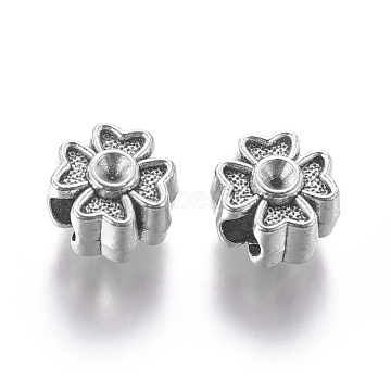 Antique Silver Flower Alloy European Beads