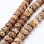 15mm Rondelle Agate Tibétaine Perles(G-E469-17A)