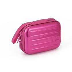Tinplate Zipper Bag, Portable Coin Purse, for Business Card, Draw-bar box Shape, Hot Pink, 70x100mm(CON-G005-A01)