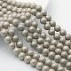 Круглый перлы раковины матовые бусины нити(BSHE-I002-10mm-15)-2