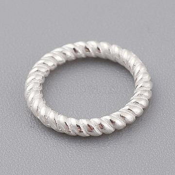 925 Sterling Silver Linking Rings, Silver, 10x2mm, 6mm Inner Diameter(X-STER-T002-292S)