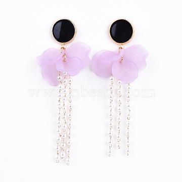 Plum Acrylic Stud Earrings