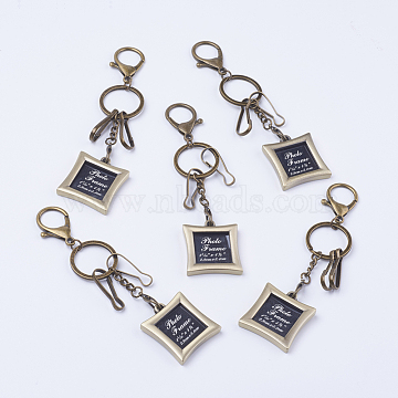 Rectangle Alloy+Other Material Key Chain