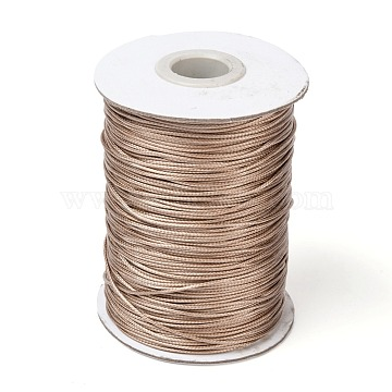 Waxed Polyester Cord, Bead Cord, BurlyWood, 1.0mm; about 185yards/roll(YC-1.0mm-121)
