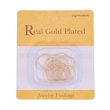 Brass Twisted Jump Rings(X-KK-T014-129G)-3