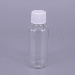 30ML Plastic Jar with White Screw Top Cap, Refillable Bottle, Column, 78x29.5mm(AJEW-TAC0020-10A)