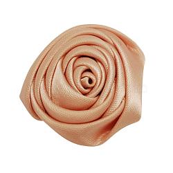 Cabochons tissés en tissu de polyester manuel, rose, Sandybrown, 29x29x14mm(WOVE-QS28-13)