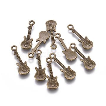 Antique Bronze Musical Instruments Alloy Pendants