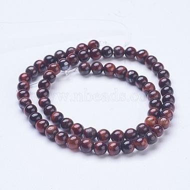 Natural Red Tiger Eye Beads Strands(G-D855-04-6mm)-2