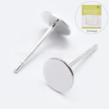 Silver Sterling Silver Stud Earring Findings
