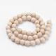 Natural Fossil Beads Strands(X-G-Q462-123-8mm)-2
