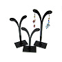 Black Plastic Earring Stands(X-PCT038-3)