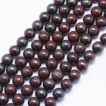 8mm Coffee Round Tiger Eye Beads