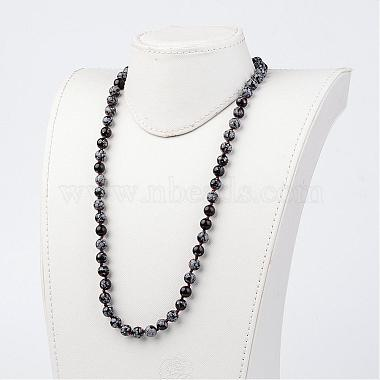 Natural Snowflake Obsidian Necklaces(NJEW-D264-15)-3