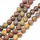 Brins de perles de jaspe en peau de léopard naturel(X-G-R345-8mm-30)-1