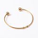 Fashion 304 Stainless Steel Cuff Bangles Torque Bangles(X-BJEW-H473-01G)-2