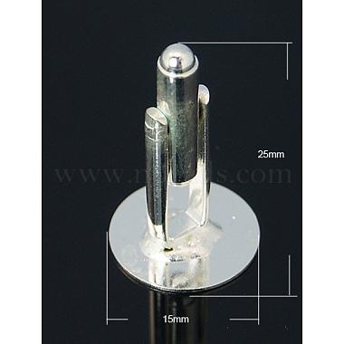 Brass Cuff Button(X-KK-E064-S)-1