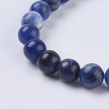 Natural Sodalite Beads Strands(X-G-G515-6mm-07)-3