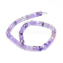 Natural Amethyst Beads Strands, Faceted, Rondelle, 10x5~8mm, Hole: 0.8mm; about 56~66pcs/strand, 15.7 inches(40cm)