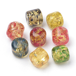 Resin Beads, Imitation Amber, Column, Mixed Color, 18.5x17.5mm, Hole: 2.5mm(X-RESI-S354-05)
