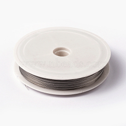 Tiger Tail Wire, Nylon-coated Steel, Stainless Wire, LightGrey, 0.38mm; 50m/roll(L0.38mm01)