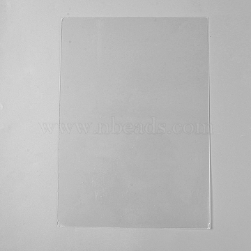 Plexiglass Sheet, for Craft Projects, Signs, DIY Projects, Rectangle, Clear, 296x210x0.6mm(AJEW-WH0105-61B)