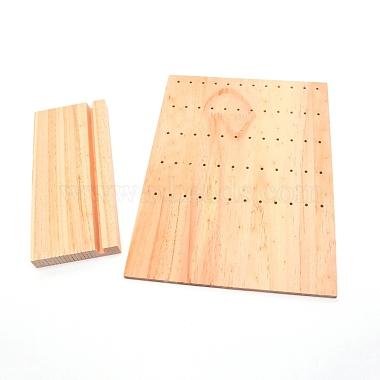 présentoir de boucle d'oreille en bois de pin(EDIS-WH0008-08A)-1