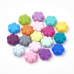 Food Grade Environmental Silicone Beads, Chewing Beads For Teethers, DIY Nursing Necklaces Making, Flowerr, Mixed Color, 14x13x6mm, Hole: 2mm(X-SIL-N001-03)
