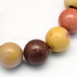 """Pierres gemmes de Mookaite rondes et naturelles , 8.5mm, trou: 1.2mm; environ 47 pcs/chapelet, 15.5""""(G-S185-8mm)"""