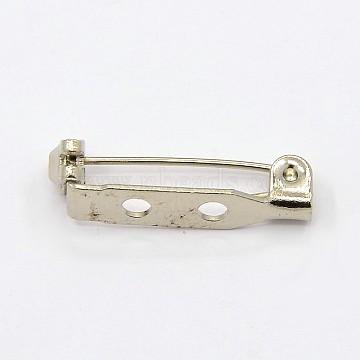 Platinum Iron Back Bar Pins