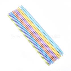 Aiguilles à tricoter en plastique ABS, couleur mixte, 350x4~10 mm; 14 pcs / set(TOOL-T006-20)