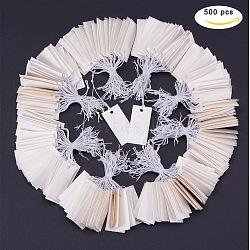 Бумажные карты цена, может быть привязана на продуктах, прямоугольные, белые, 33x17x0.3 мм(CDIS-PH0001-02)