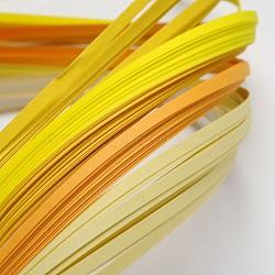Bandes de papier quilling de 6 couleurs, jaune progressive, 390x3mm; à propos 120strips / sac, 20strips / couleur(X-DIY-J001-3mm-A02)