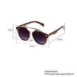 Trendy Sunglasses, Alloy Frames and Resin Lenses, Gray, 14.5x5.3cm(SG-BB22055)