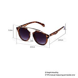 модные солнцезащитные очки, рамы из сплавов и смоляные линзы, серый, 14.5x5.3 cm(SG-BB22055)