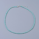 Natural Amazonite Beaded Necklaces(NJEW-K114-A-A07)-1
