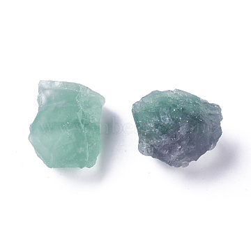 Rough Raw Natural Fluorite Beads, Undrilled/No Hole Beads, Nuggets, 20~30x39~42x24~26mm, about 2pcs/bag, 100g/bag(X-G-WH0003-04)