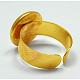Cuff Brass Ring Shanks(X-UNKW-C2902-G)-2