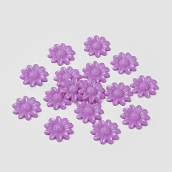 Cabochons acryliques, teint, tournesol, Mediumpurple, 20x3.5mm(X-BUTT-E010-05)