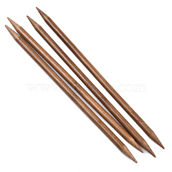 Bamboo Double Pointed Knitting Needles(DPNS), Peru, 250x8mm; 4pcs/bag(TOOL-R047-8.0mm-03)