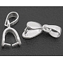 Silver Clear Sterling Silver+Cubic Zirconia Ice Pick Pinch Bails(X-H799)