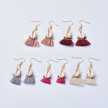 Mixed Color Polyester Earrings