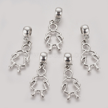36mm Human Alloy Dangle Beads