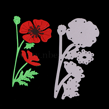 Flower Frame Carbon Steel Cutting Dies Stencils, for DIY Scrapbooking/Photo Album, Decorative Embossing DIY Paper Card, Matte Platinum, 9.1x4.7x0.08cm(DIY-F028-27)
