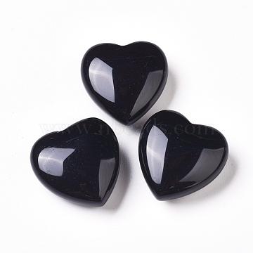 30mm Heart Obsidian Beads