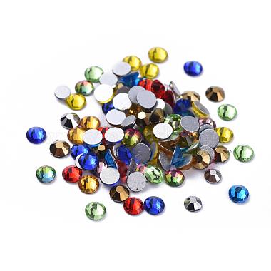 4mm Half Round Glass Rhinestone Cabochons